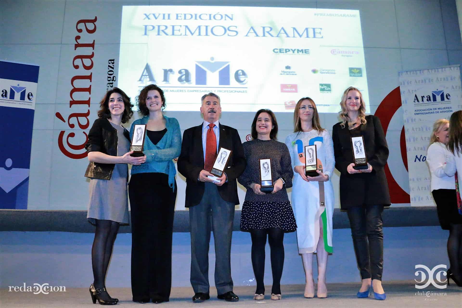 Patricia Salas y Marta Mercadal Premio ARAME 2016 a la Creatividad e Innovación