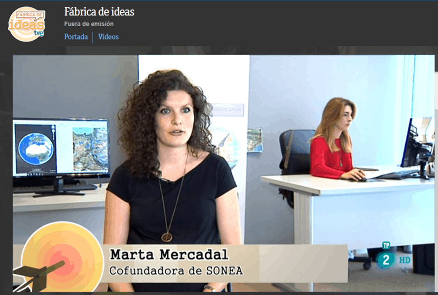 SONEA en la FABRICA De IDEAS de La 2 TV