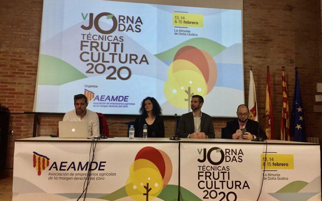 Participación en V Jornadas Técnicas de Fruticultura AEAMDE 2020